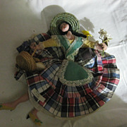 Vintage Cloth Souvenir Doll