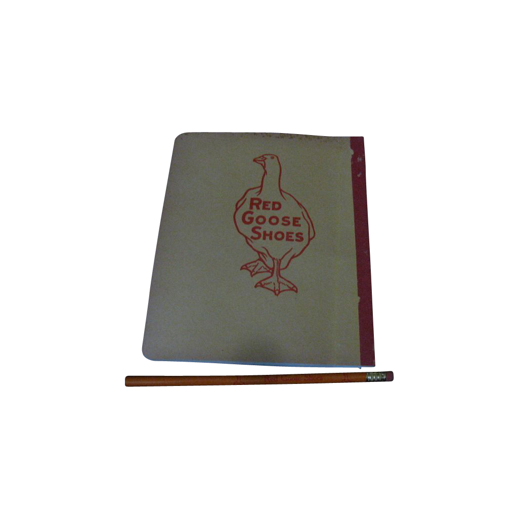 Red Goose Composition Book  with Pencil