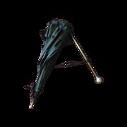 Vintage Black with Silver handle Child's Umbrella