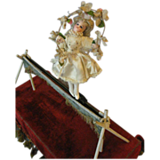 French  Musical Mechanical Automaton Tight Rope  Ballerina