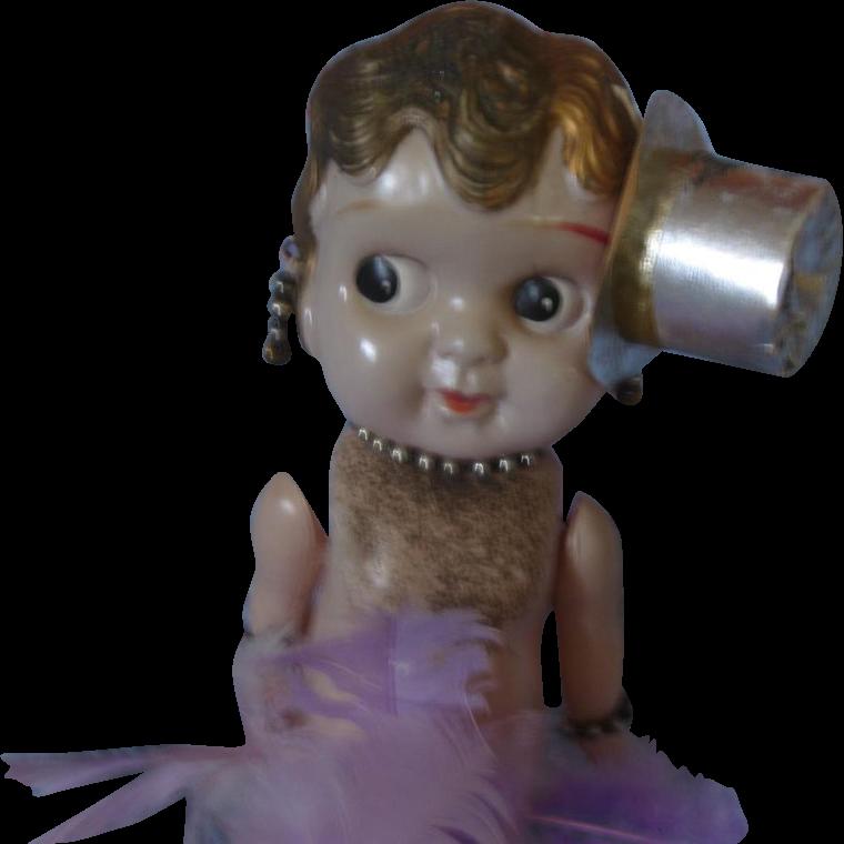 Vintage Celluloid Carnival Cupid