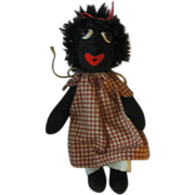 Mollywogg  Black Cloth Doll