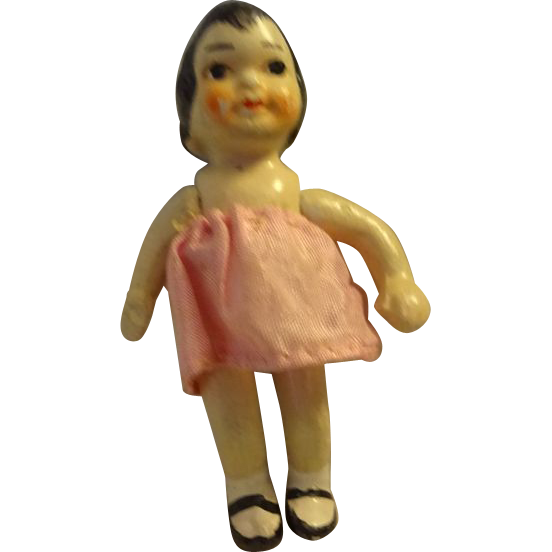 "31/2 "" Tall All Bisque Jointed Doll"
