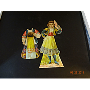 Russian and Spanish Paper Doll