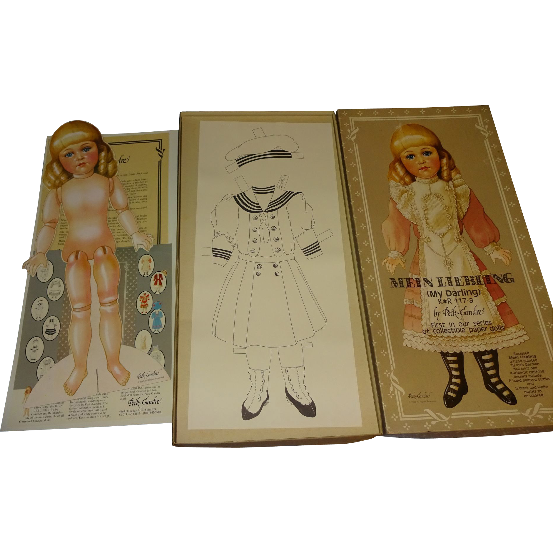 Mein Liebling  by Peck-Gandre Vintage Paper Dolls