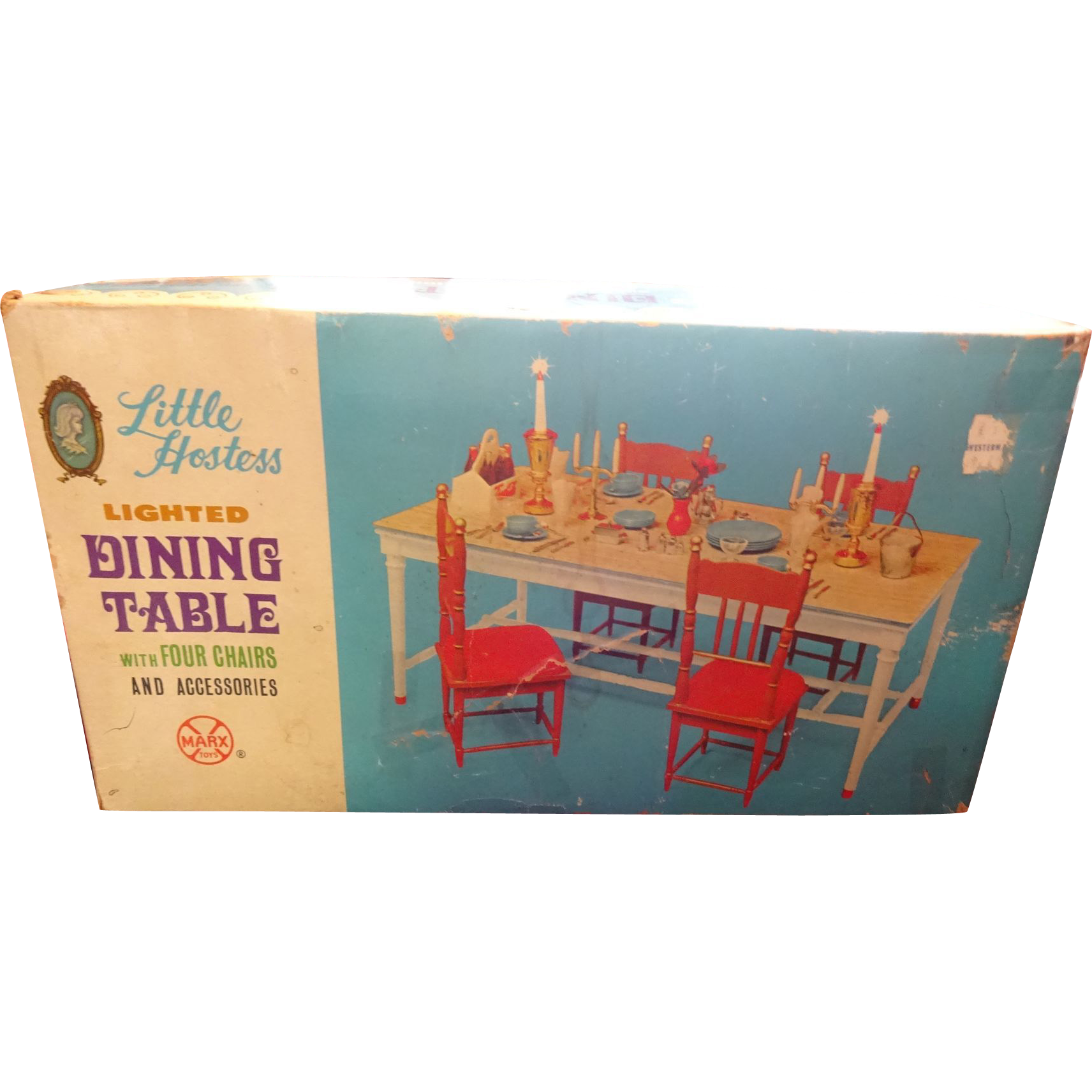Marx Toys Little Hostess Dining Table With 4 chairs and