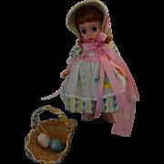 "Vinyl Madame Alexander Doll  ""Easter Bonnet"""