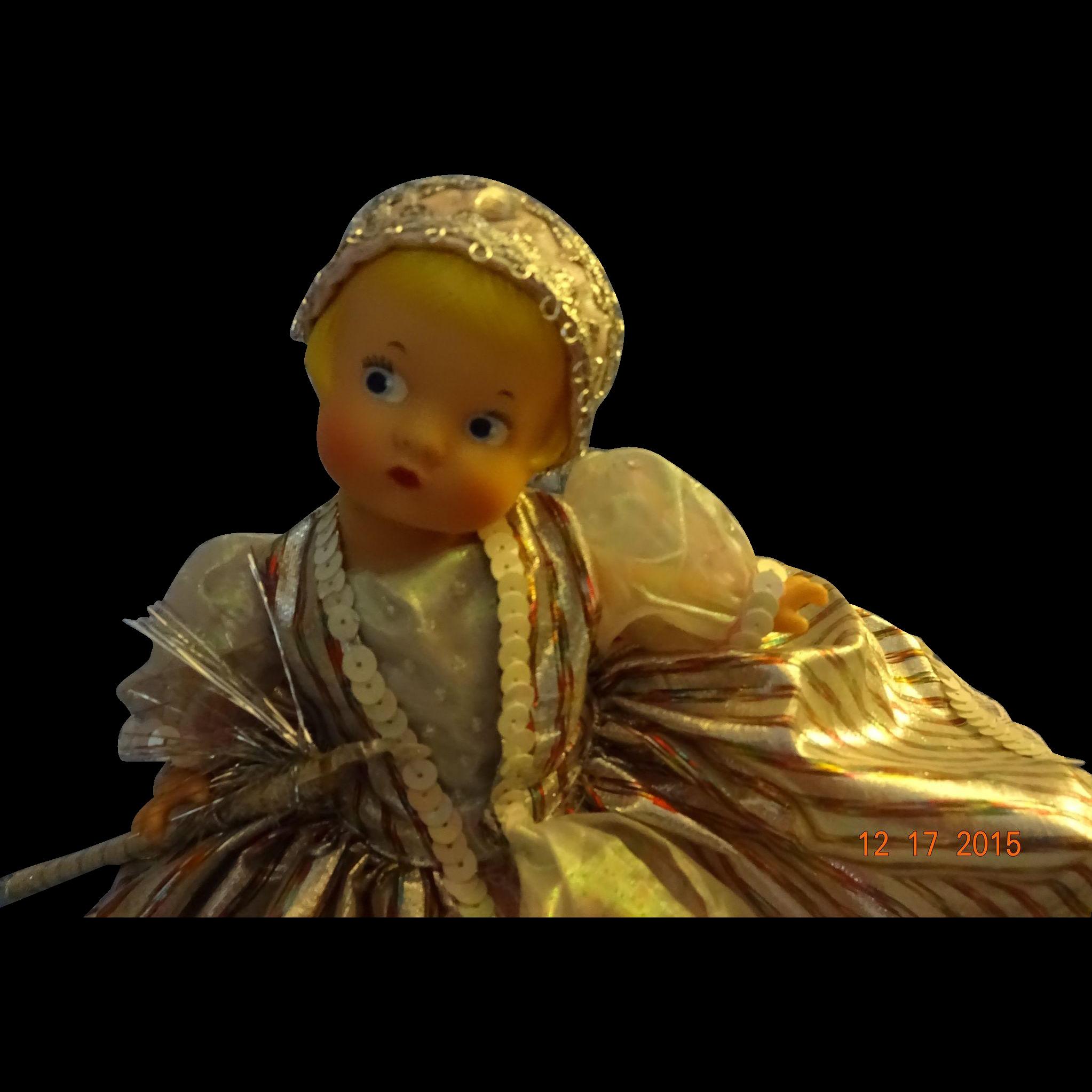 """Effanbee  """"Renaissance Angel Tree Topper"""" Doll"""