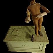 Papier Mache  Mechanical  Doll