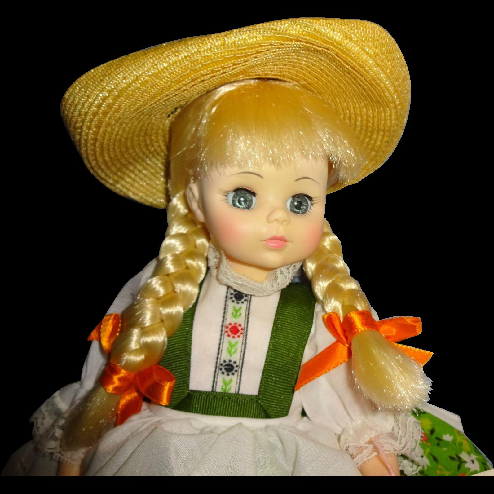 "Madame Alexander ""Heidi"" Vinyl  Doll"