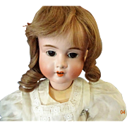 "Antique German Bisque Doll ""Viola""  H & Co  5"
