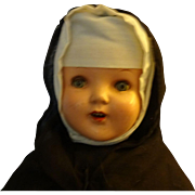 Vintage  Composition Nun Doll