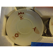 Souvenir  of Olympics  1984  Sarajevo  Demitasse  cups and Saucers