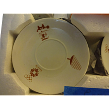 Souvenir  of Olympics  1984  Sarajevo  Demitasse  cups and Saucers