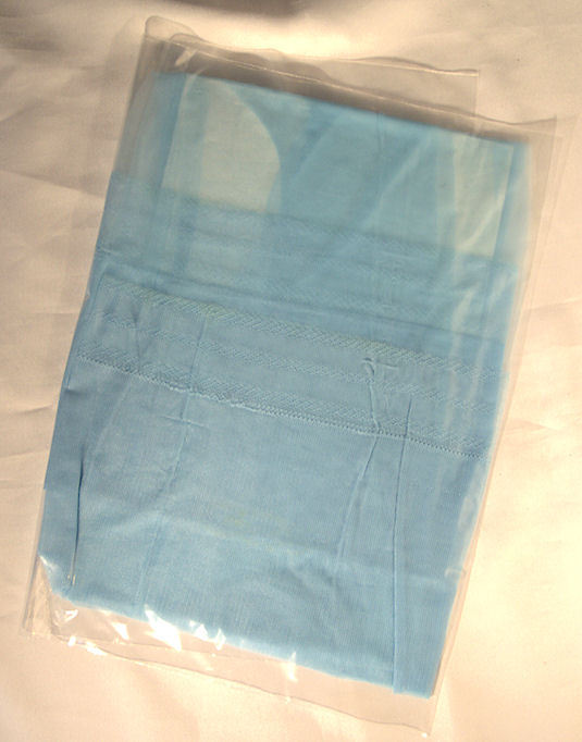 Vintage Nylon Stockings in Shimmering Light Blue ~ Sz 11