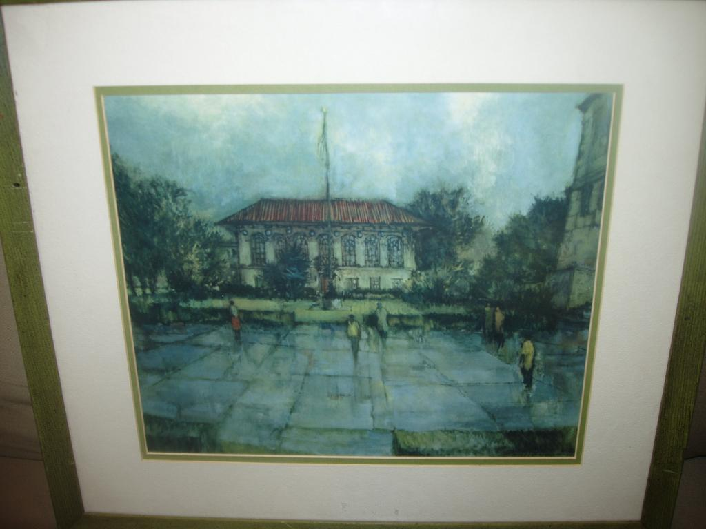 "Vintage UT University of Texas Framed Print ""Old Library"""