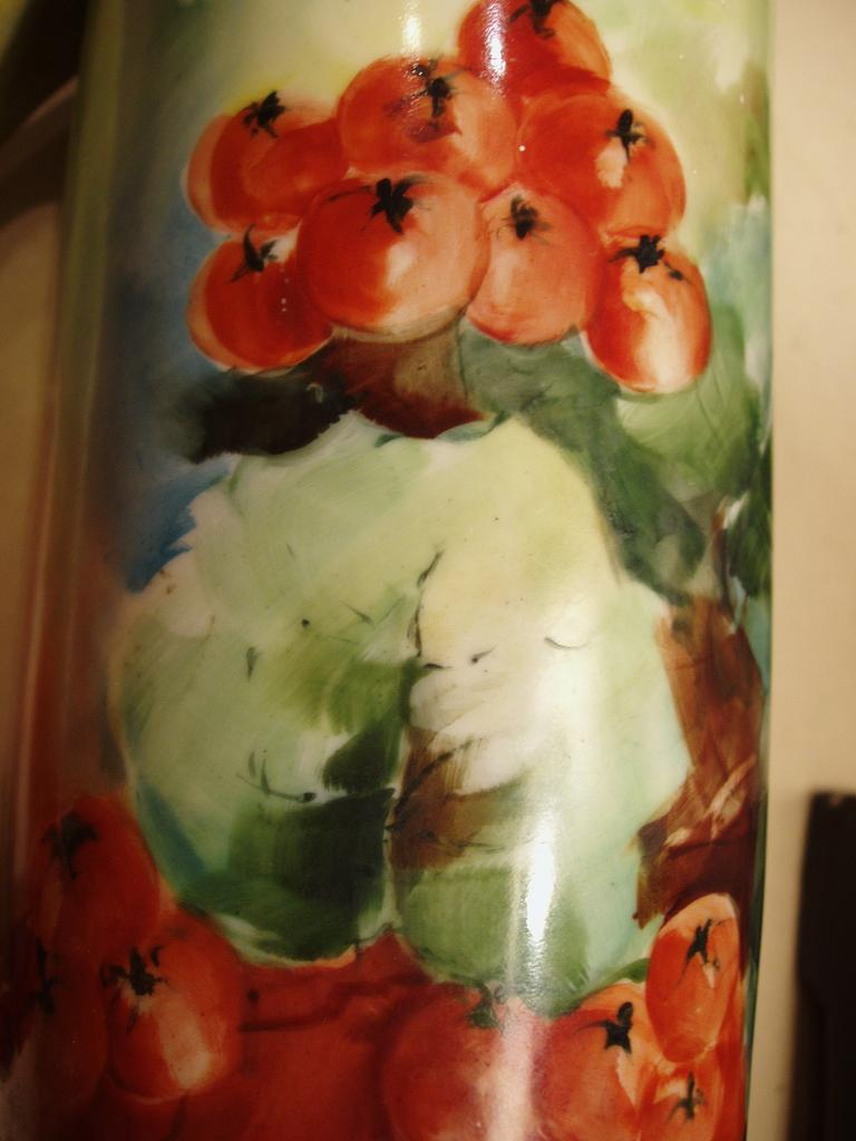 Antique P.H. Leonard Vienna Hand Painted Stein Currants
