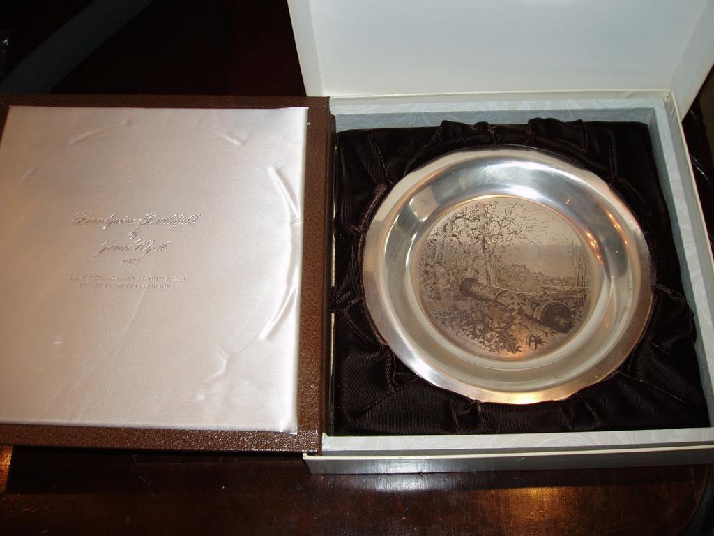 Brandywine Battlefield James Wyeth Sterling Silver Plate 1976