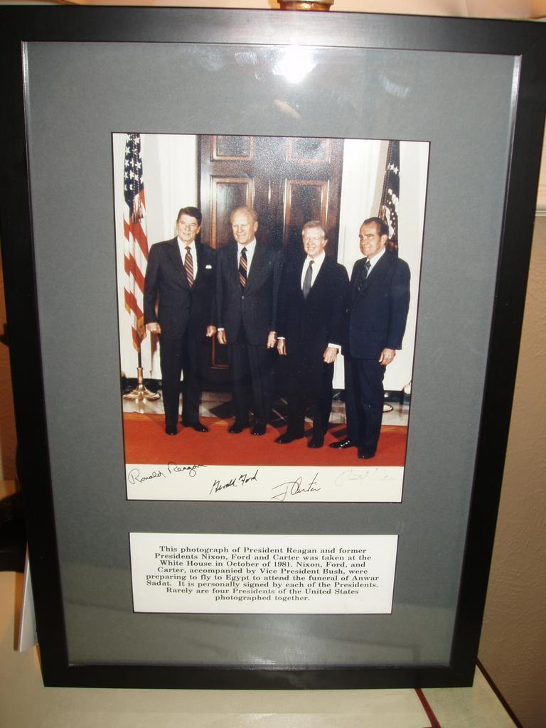Rare Presidential Signatures / Autographs - 4 Presidents!