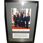 Rare Presidential Signatures / Autographs - 4 Presidents!