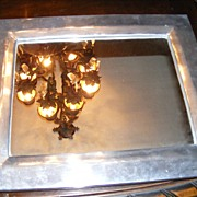 Cast Pewter Mirror