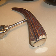 Antique Antler Handle Corkscrew