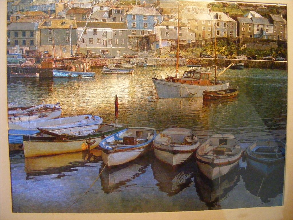 Vintage Photo - Early 1960's European Scene Harbor with Boats