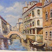 C. Fennell signed Venice, oil painting Italy scene