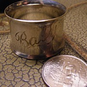 "Cute Silver Plated ""Baby"" Napkin Ring Holder"