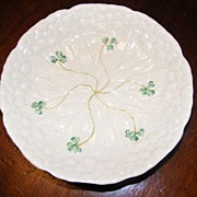 Vintage New Old Stock Belleek Daisy Dish