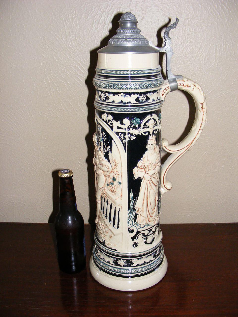 """Vintage Monumental German Beer Stein 21"""" tall"""