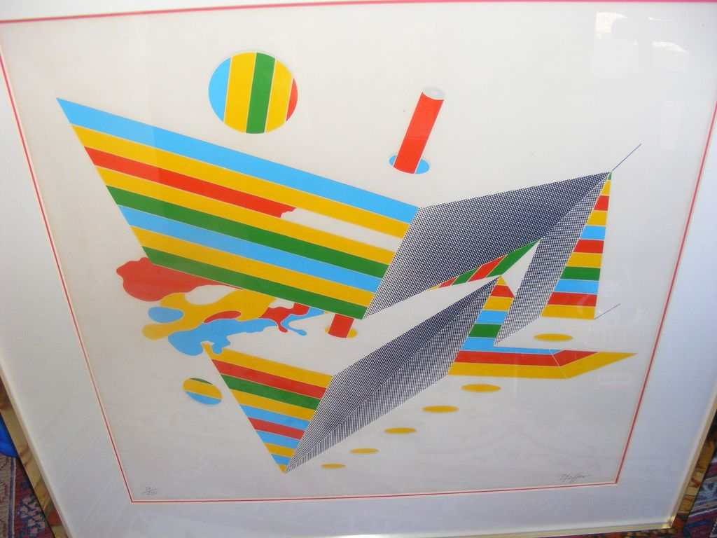 Large Bodo Pfeifer Modern Art Silkscreen Print signed and numbered