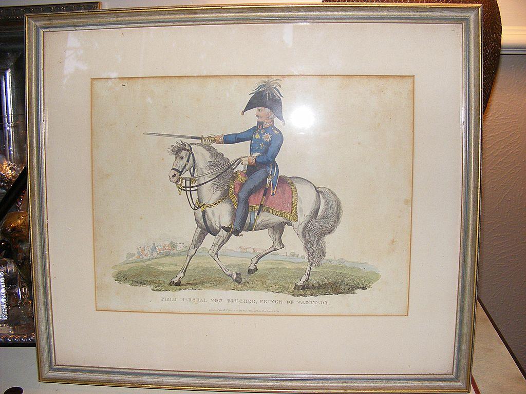 1815 John Romney Print Field Marshal Von Blucher Prince of Wagstadt
