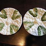 2 Vintage Cauliflower / Lettuce Plates