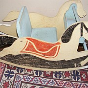 Very old childs wooden Rocking Horse toy