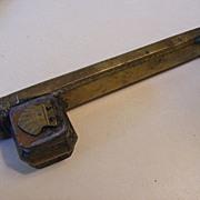 Antique Bronze Turkish / Ottoman Traveling Quill Holder