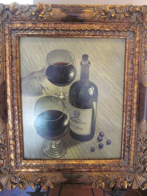 Wine Bottle with Glasses Oil Painting on canvas