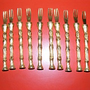 Vintage Early 1960's Set of 12 hors d' oeuvres forks