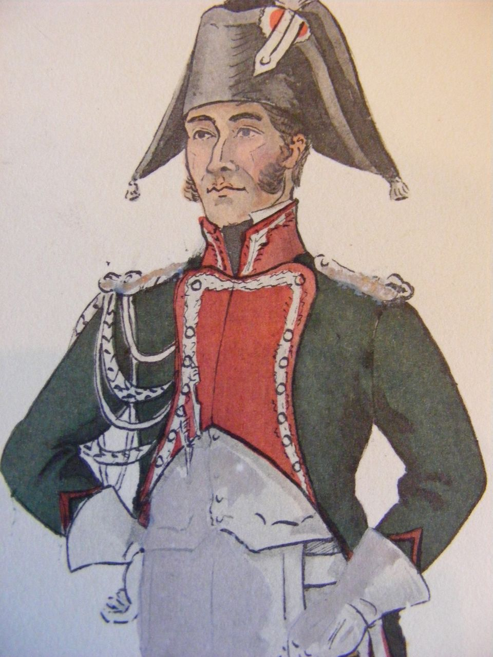Collection of 7 Napoleonic War French Military Uniform Prints E. Bucquoy