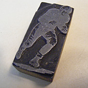 Vintage Ink Block - Football Player