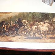 Vintage Print Rosa Bonheur - The Horse Fair