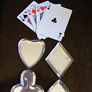 "Set of 4 Taxco Sterling ""Playing Card"" Nut Dishes"