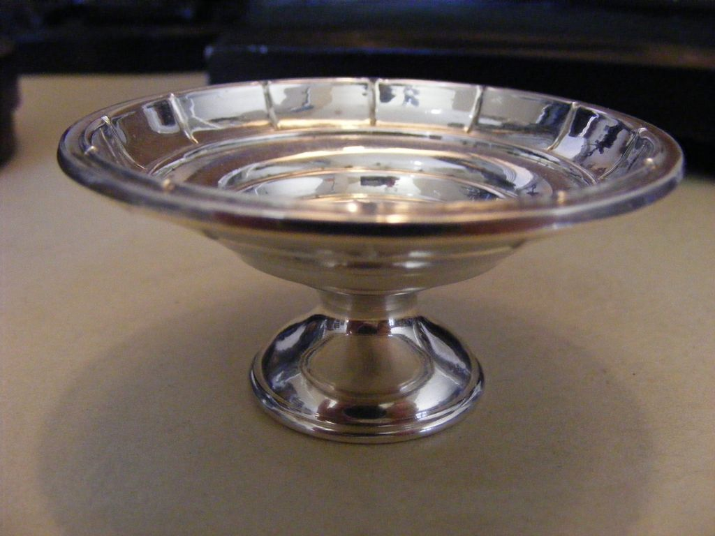 Vintage Webster Sterling Silver Open Salt
