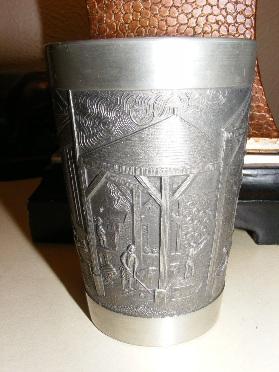 Vintage Pewter Cup - Degussa - Das Atelier Porcelain Factory Floor Scene