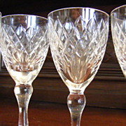 Vintage Set of 8 Royal Brierley Coventry Sherry Glasses