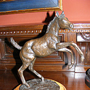 "Jim Reno Bronze Sculpture ""The Weanling"" 1986"