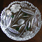 Antique Cut Crystal Bon Bon Dish