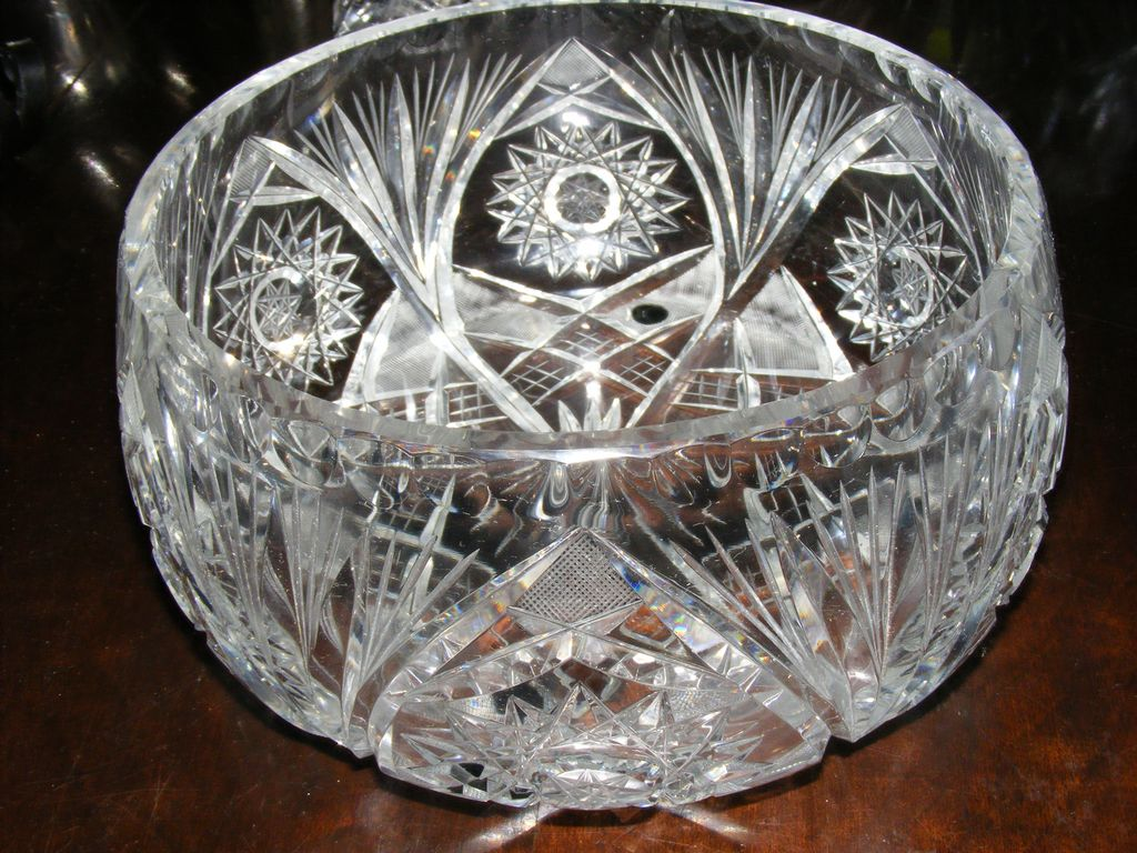 Large Cut Crystal Centerpiece Bowl