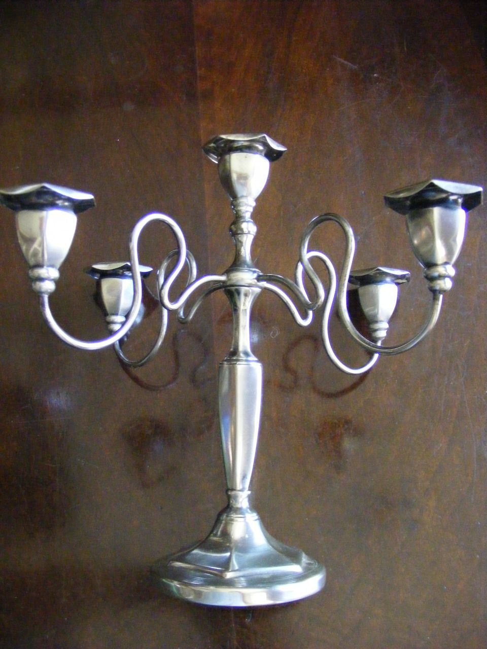 Vintage Knickerbocker Silver Silverplated Candelabra