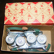 Vintage 1950s Toy - Hustler Whizzer Skates - New in Box